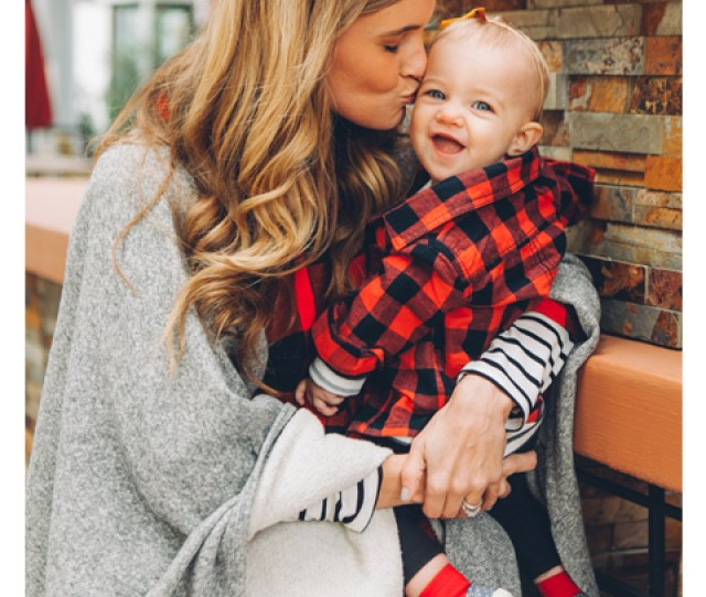 Baby And Mother Outfits Plaid