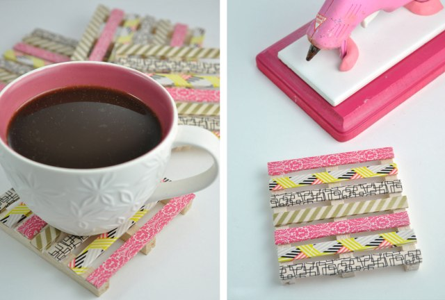 creative gift ideas mini pallet coasters width=