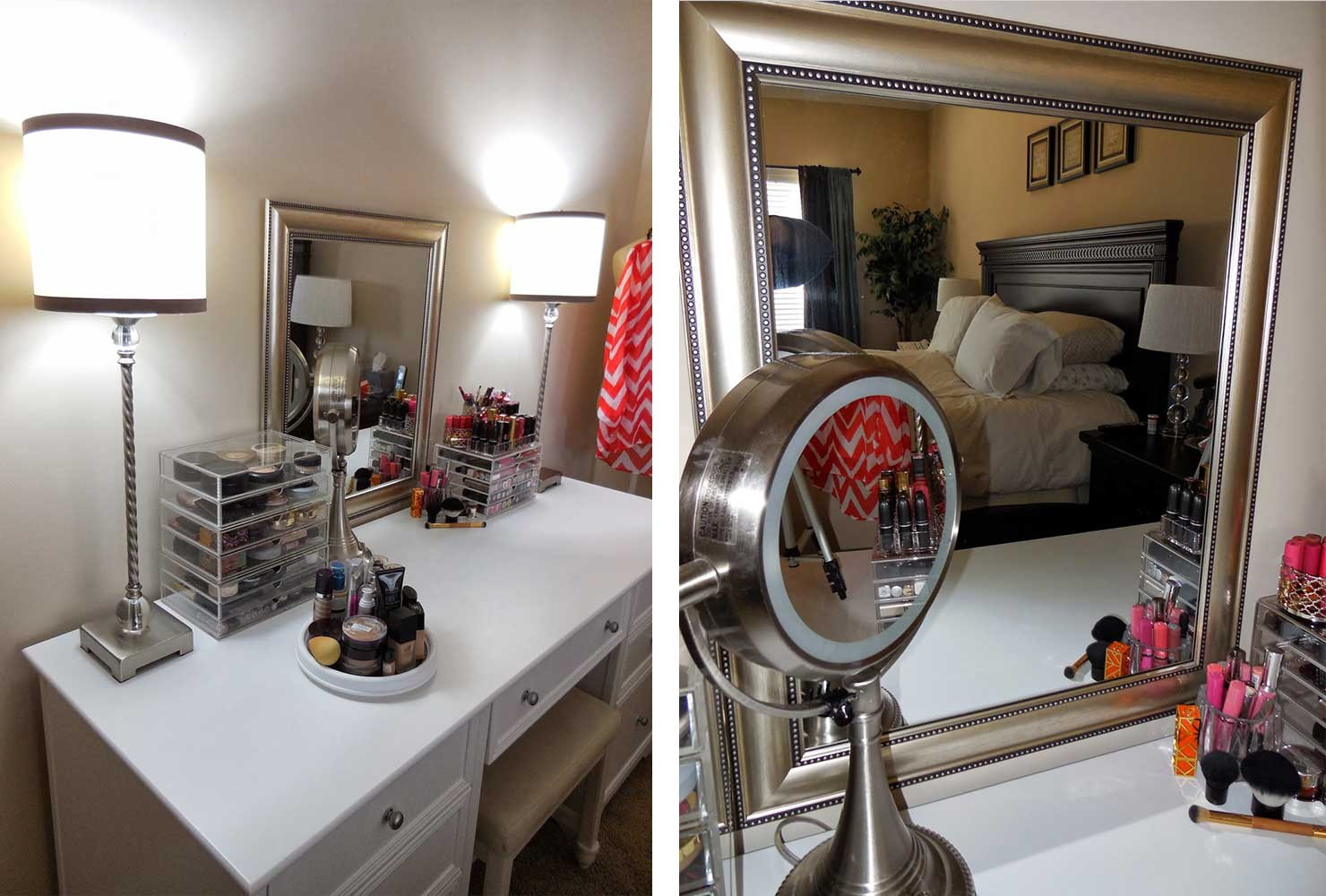 35 Makeup Room Ideas To Brighten Your Morning Routine ... on Make Up Room  id=67931