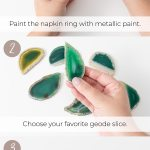 Diy Geode Napkin Rings For Your Special Day Ideas Inspiration