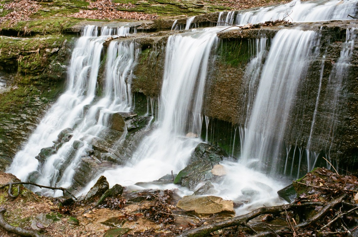 Waterfall at Jackson Falls along the Natchez Trace Parkway just West of Columbia, Tennessee
