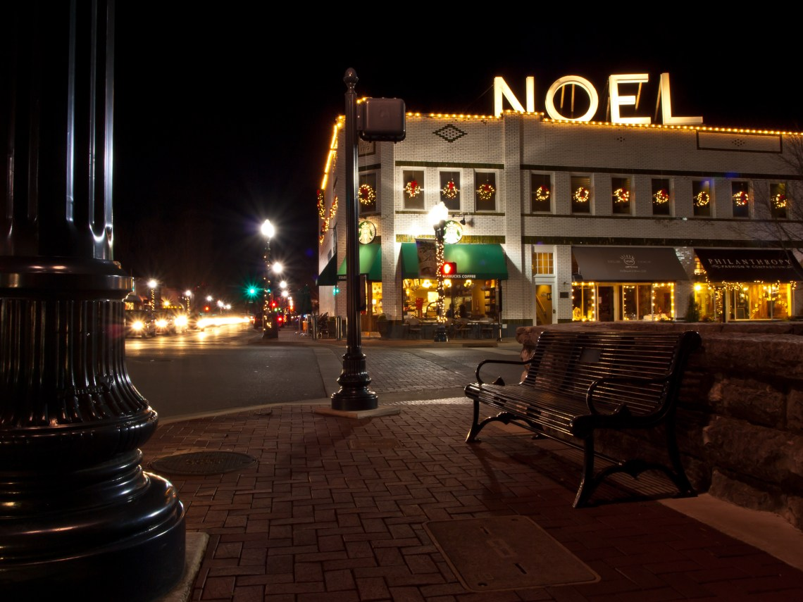 Five Points Intersection in Downtown Franklin, Tennessee