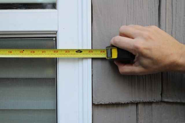Measure windows for exterior vinyl shutters.