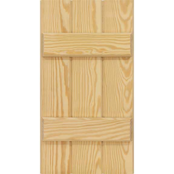 Economy wooden board and batten exterior shutters.