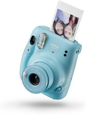 instax mini polarois camera van fujifilm blauw