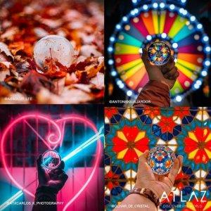 cadeauset lensball en prisma set voor creatieve fotografie