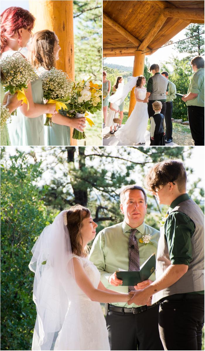 sunshine valley gardens wedding ceremony south dakota