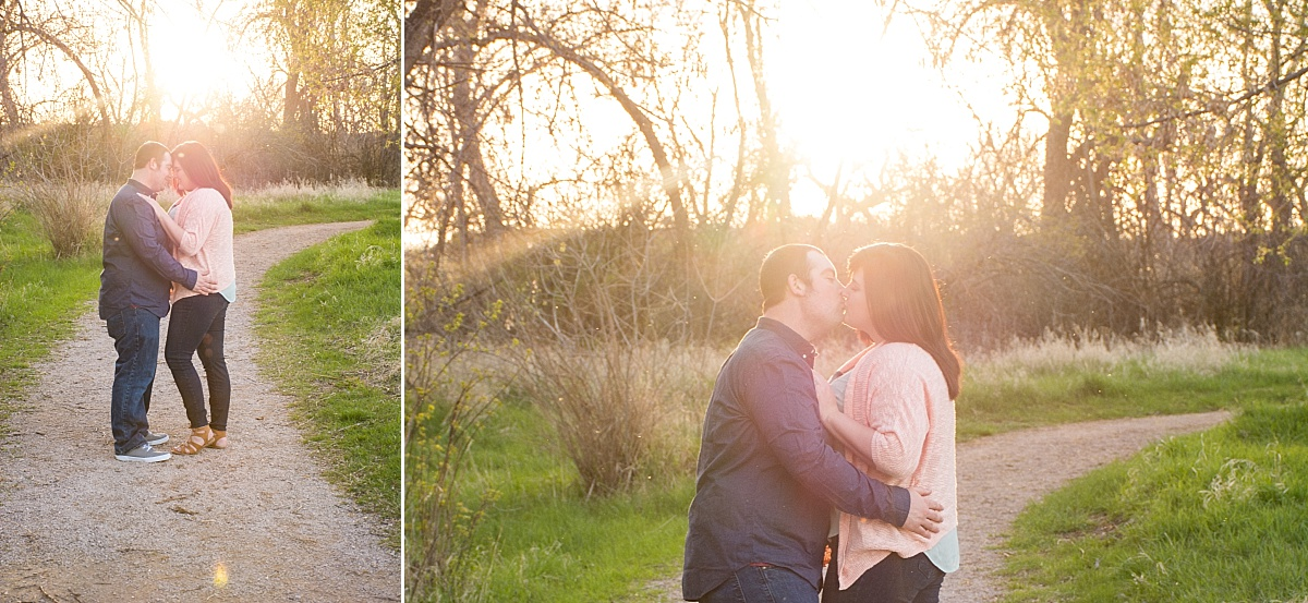 spring sunset outdoor campus west rapid city south dakota engagment photographer