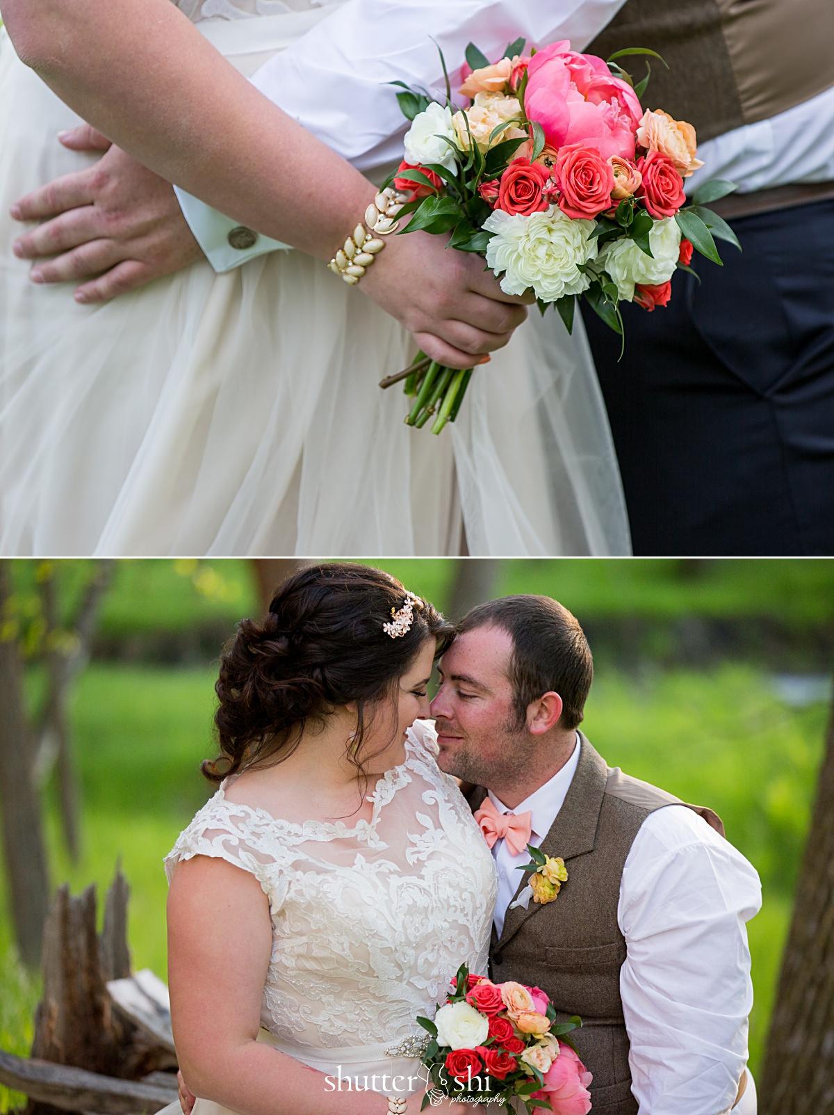 Clint-Tamra-Custer State Park Destination Wedding South Dakota Spring Bouquet