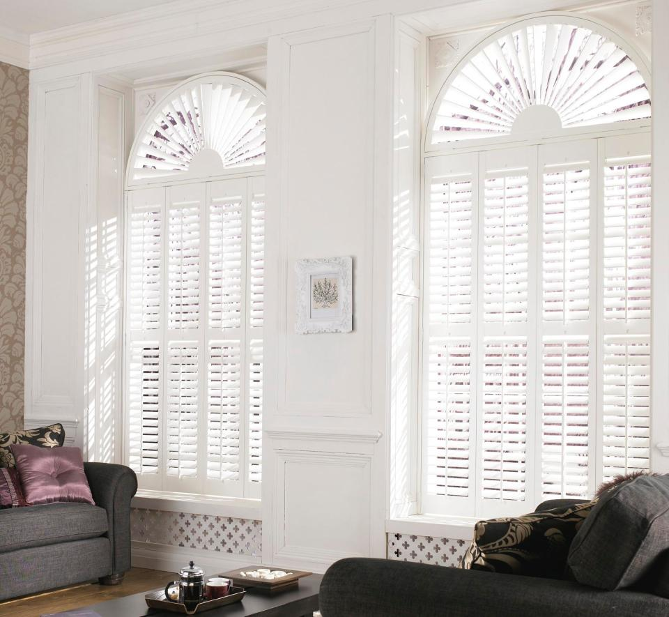 Arched Window Plantation Shutters