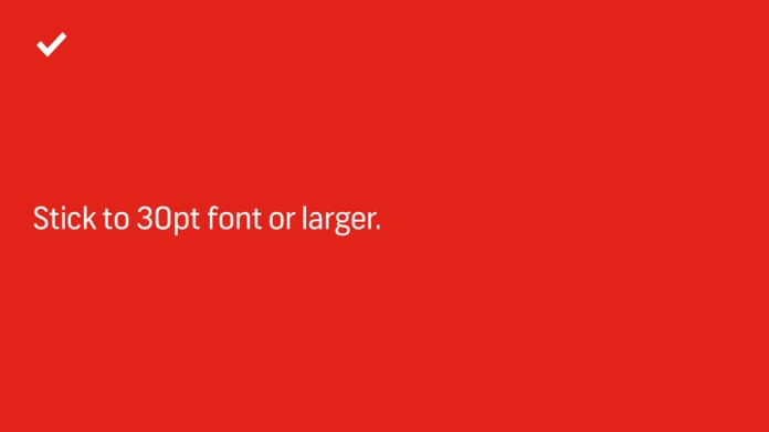7 Design Tips On How To Make An Effective, Beautiful PowerPoint Presentation — Use Larger Fonts