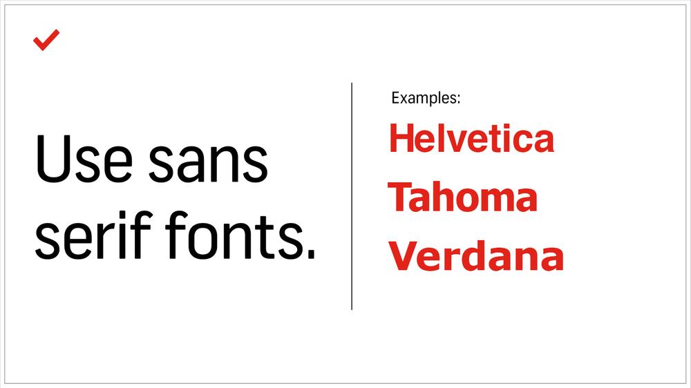 7 Mẹo thiết kế về cách tạo bản trình bày PowerPoint đẹp và hiệu quả - Sử dụng phông chữ Sans-Serif