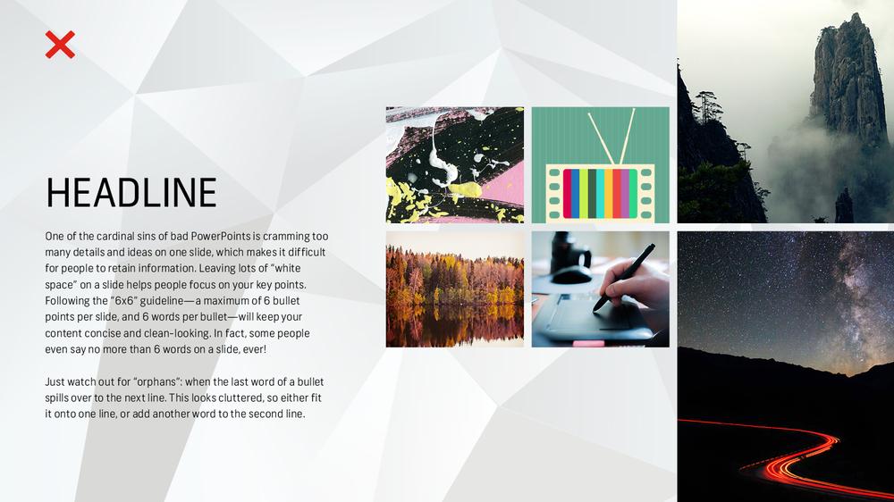 7 Mẹo thiết kế về cách tạo bản trình bày PowerPoint đẹp, hiệu quả - Giữ thông tin thưa thớt