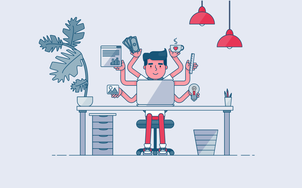 graphic designer working - freelance graphic design guide
