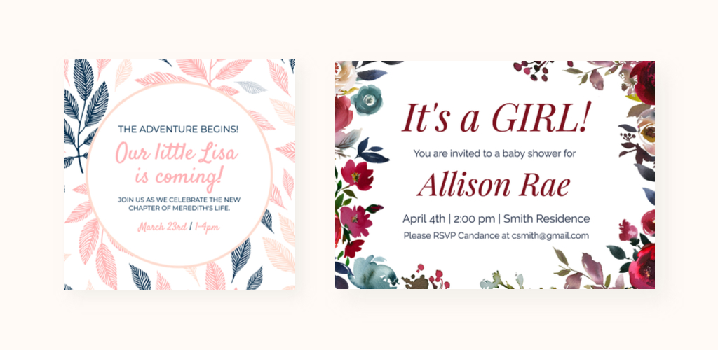 Your best friend just shared the exciting news that she is pregnant so you know what that means: Create A Baby Shower Invitation Card In 5 Easy Steps