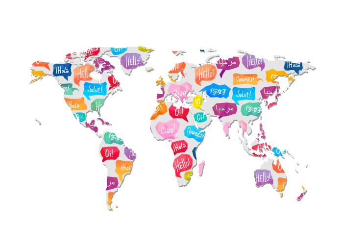 21 languages - world map