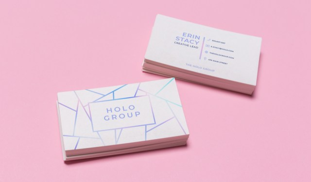 9 Fresh Ideas for Designing Creative Business Cards — Holographic Lines