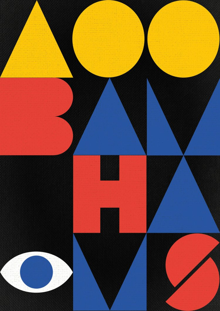 a bauhaus inspired poster in indesign