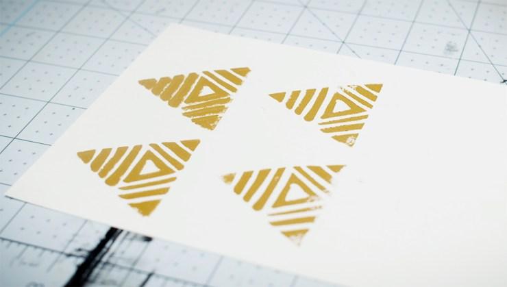 Linocut printmaking - final prints