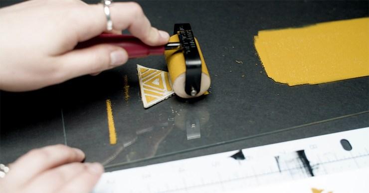 Linocut printmaking step 5: prepare relief ink