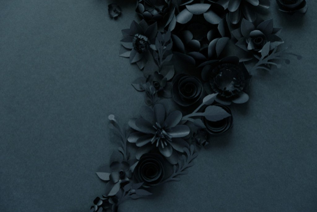 Black Paper Flowers Design
