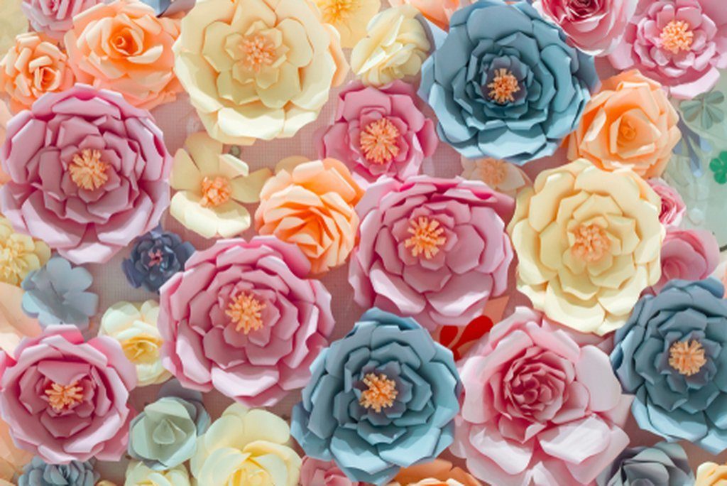 Paper Floral Background