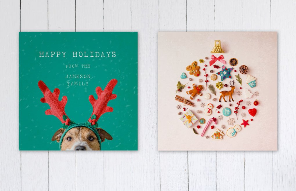 Christmas Card Design Inspiration: Photography and Illustration