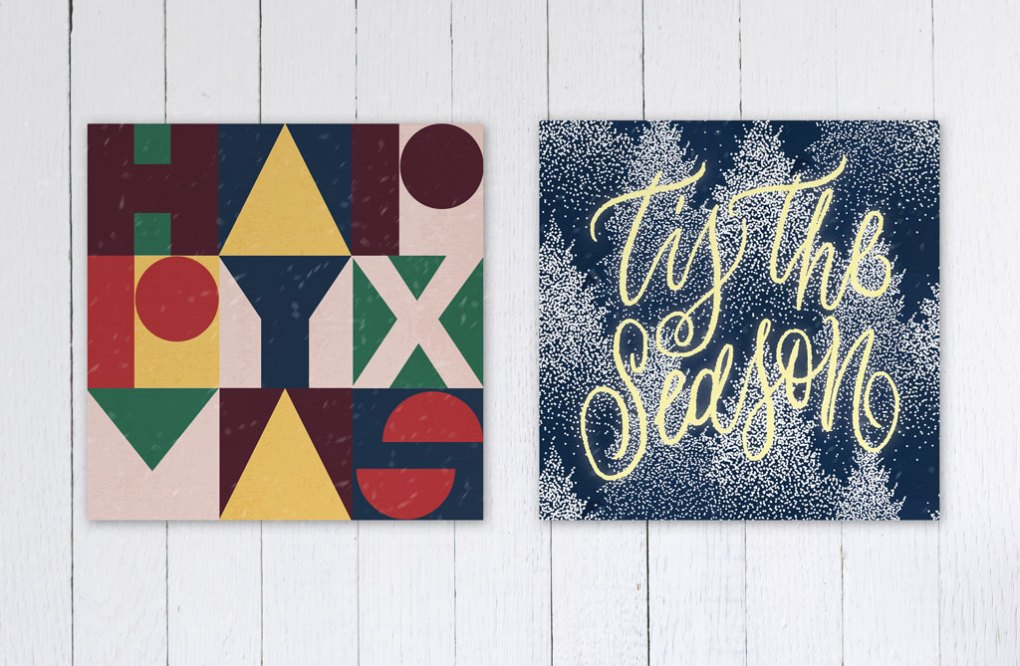 Christmas Card Inspiration: Typography