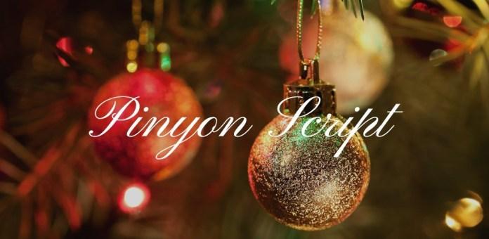 Christmas Font: Pinyon Script