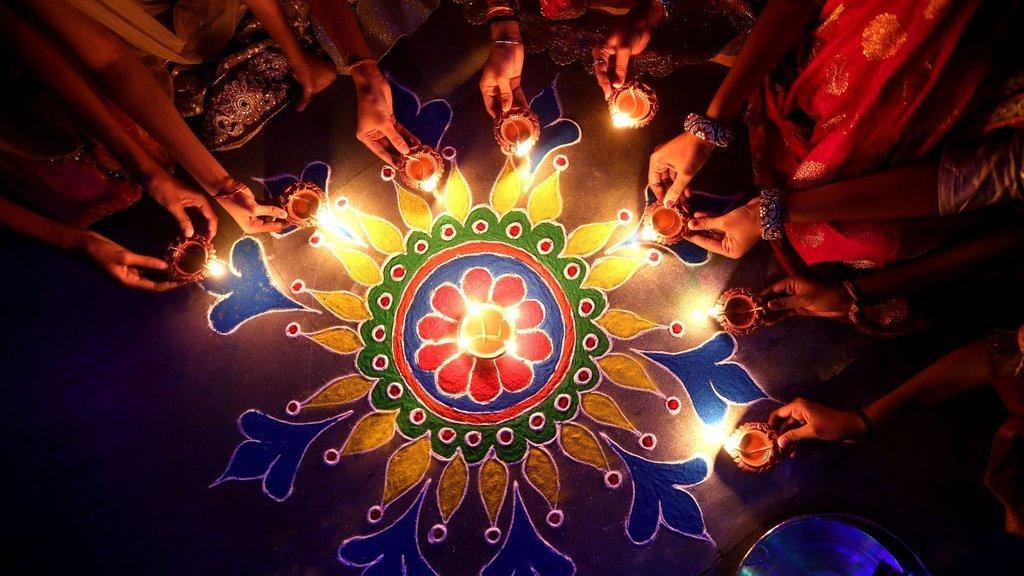 Colorful Rangoli Decoration