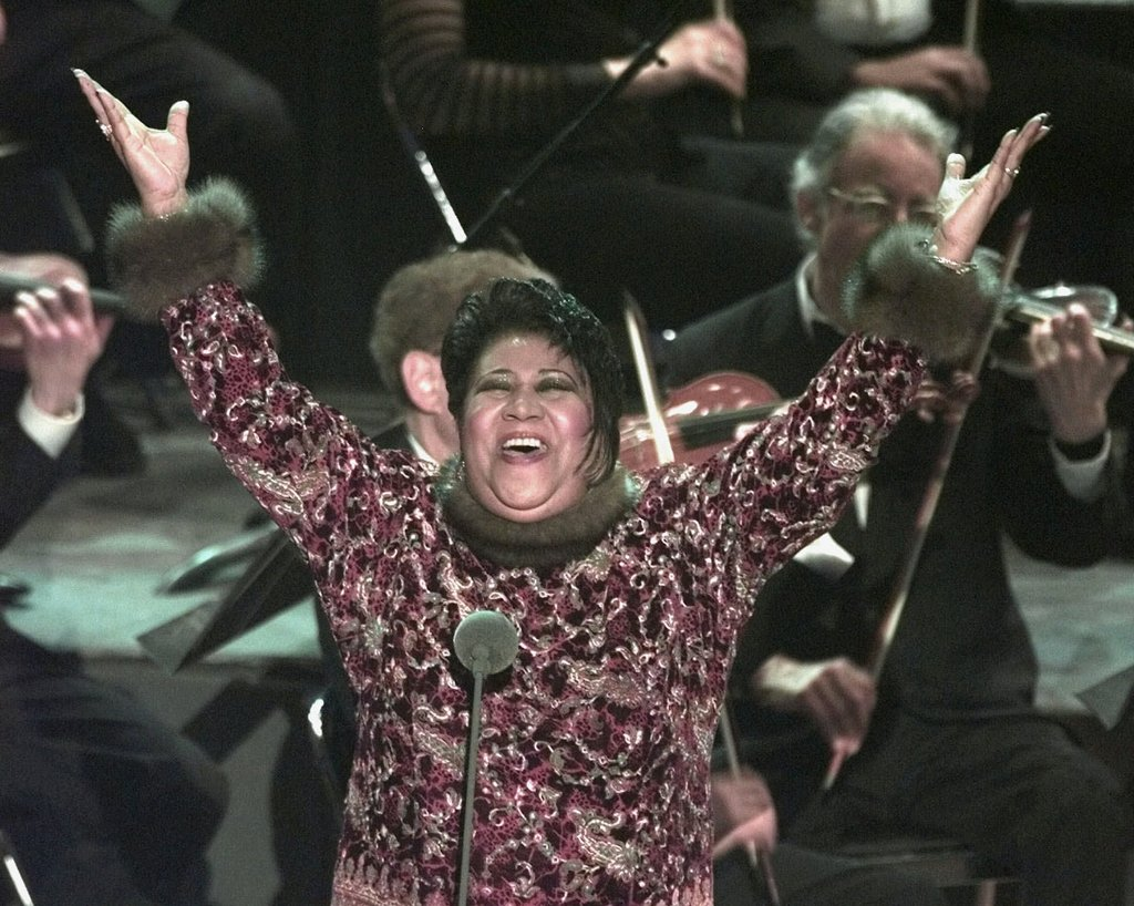 Aretha Franklin Performs at the Grammys
