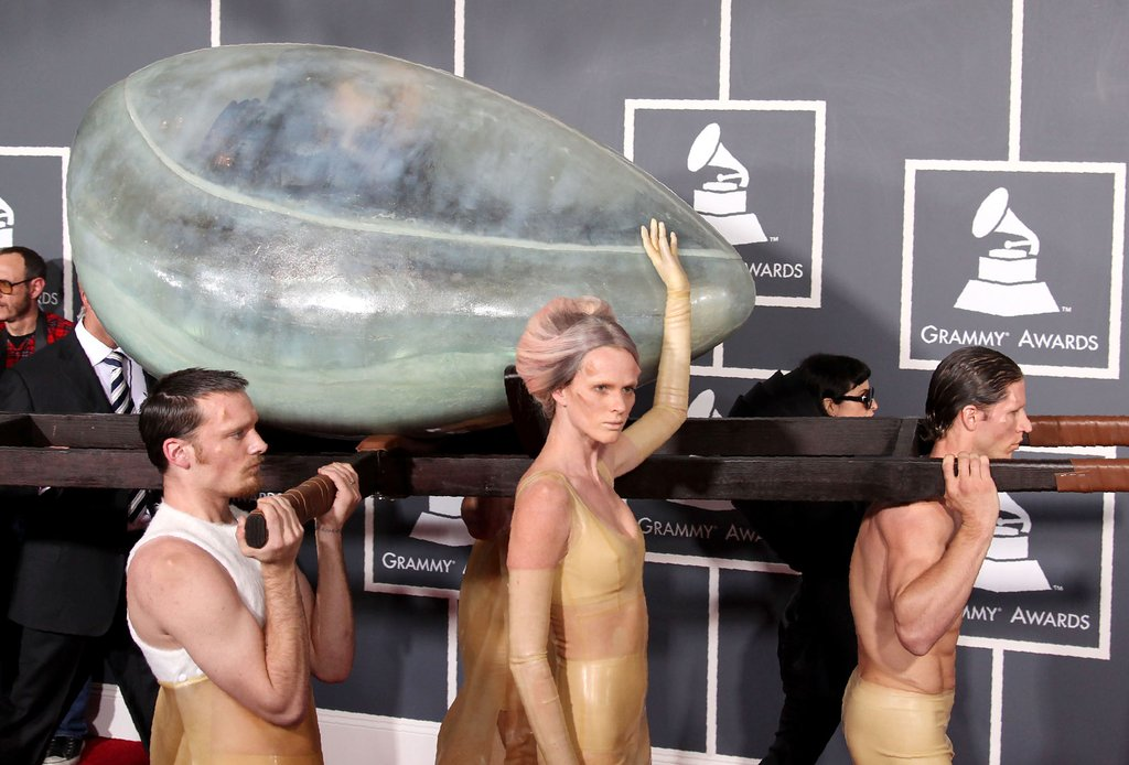 Lady Gaga Arriving at the Grammys