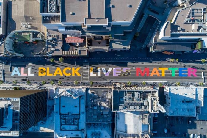Black Lives Matter Memorial in Hollywood