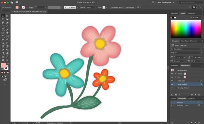 Drop Shadow Effect in Adobe Illustrator