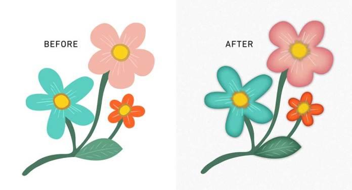Floral Vector in Adobe Illustrator