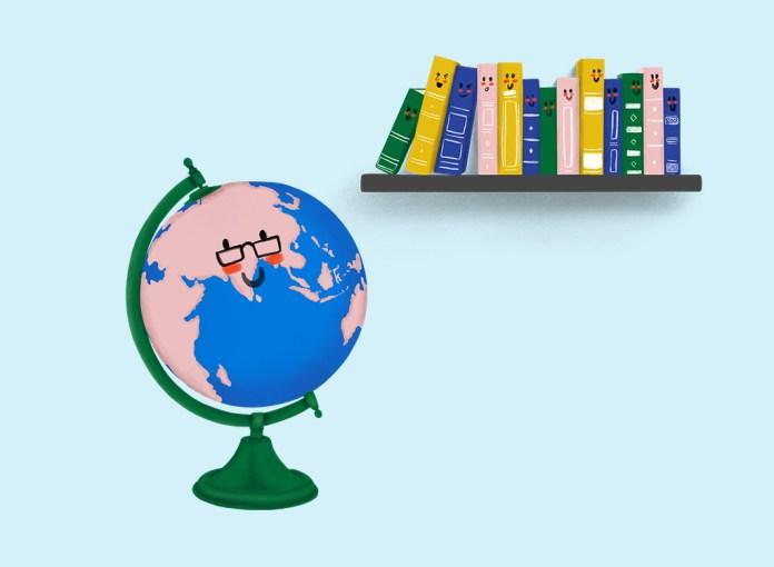 Books and Globe Clip Arts