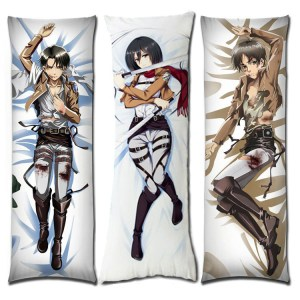Attack on Titan Body Pillow Case Dakimakura Cover Shut Up And Take My Yen : Anime & Gaming Merchandise