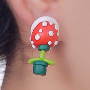 Super Mario Piranha Plant Earrings