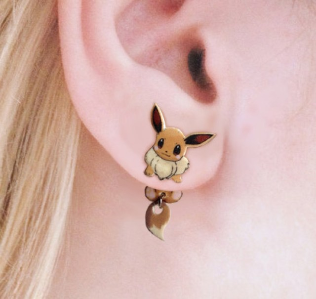 Clinging Eevee Earrings Pokemon Shut Up And Take My Yen : Anime & Gaming Merchandise