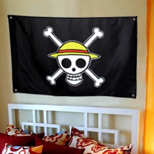 One Piece Pirate Flag Luffy Logo Shut Up And Take My Yen : Anime & Gaming Merchandise