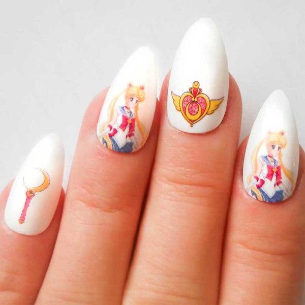sailor moon nails - shut