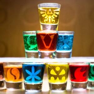 Legend Of Zelda Shot Glass Set
