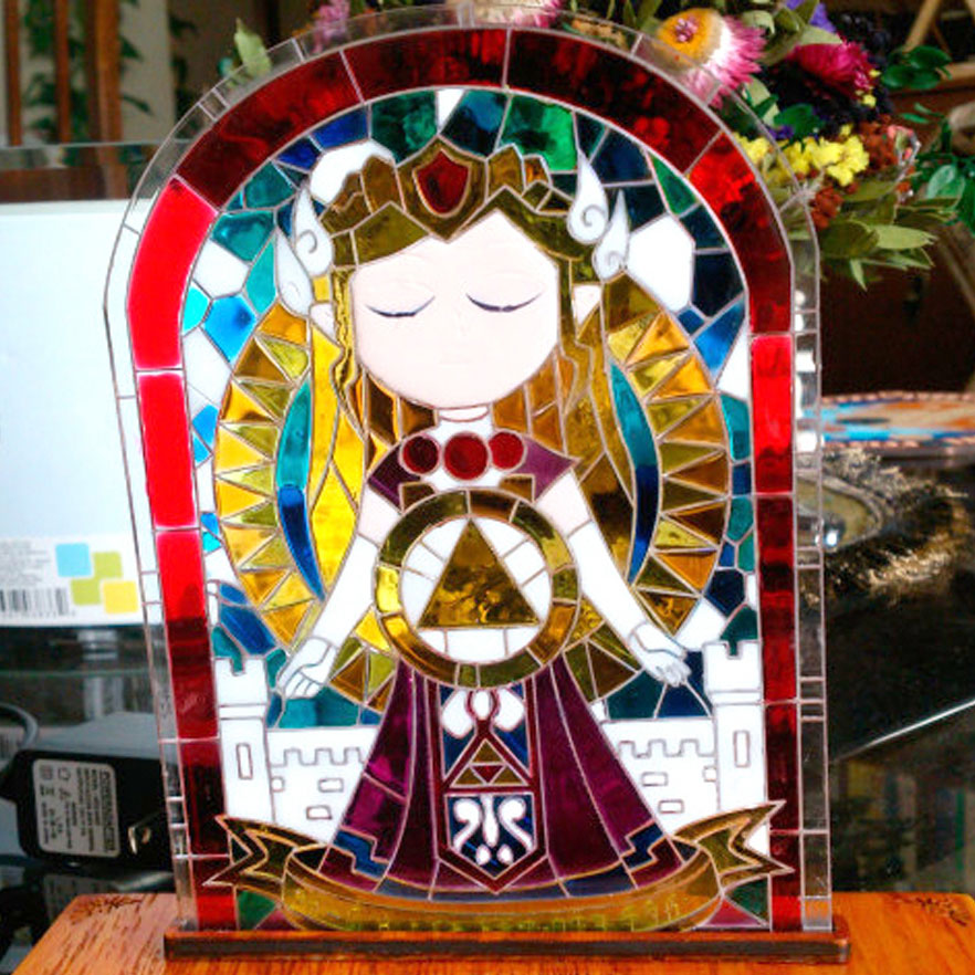 Stained Glass Princess Zelda Lamp