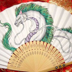 Spirited Away Haku Paper Fan
