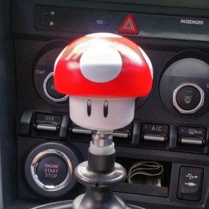 Super Mario Mushroom Shift Knob