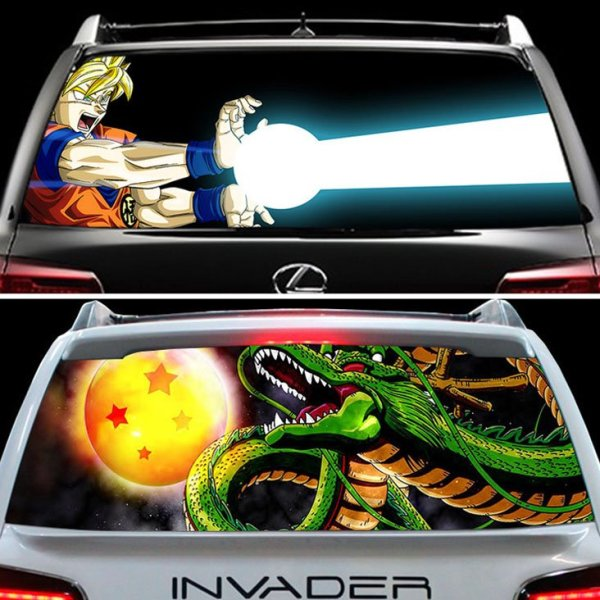 Dragon ball z back window decals shut up and take my yen