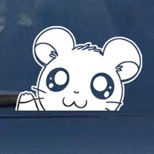 Hamtaro Car Window Decal