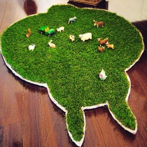 Grass Totoro Rug