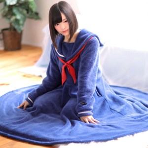 Wearable School Girl Blanket