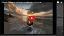 How to edit a Sunrise Photo Using Lightroom